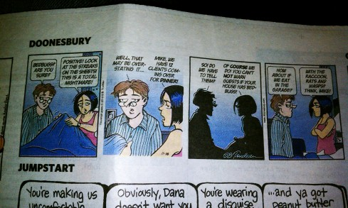 Doonesbury has Bed Bugs!
